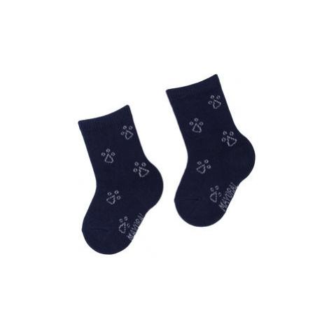 Mayoral Súprava 3 párov vysokých detských ponožiek 10633 Tmavomodrá