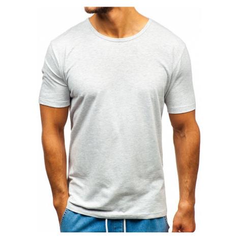 Šedé pánske tričko bez potlače BOLF T1281 JUSTPLAY