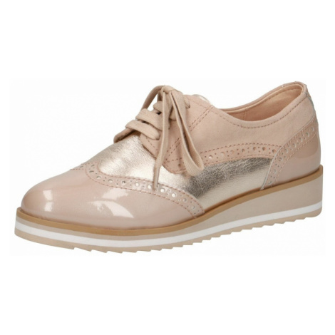 CAPRICE Šnurovacie topánky  béžová