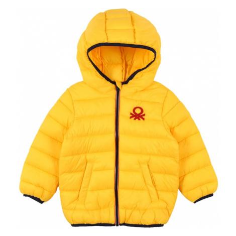 UNITED COLORS OF BENETTON Prechodná bunda  žltá / čierna / červená