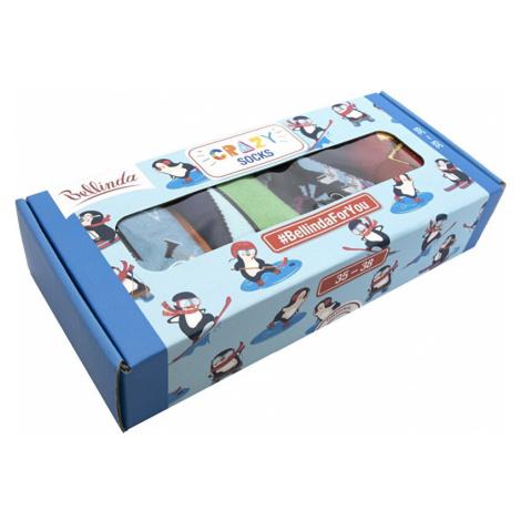 Bellinda Darčeková sada ponožiek Crazy Socks Box BE481044-004 43-46