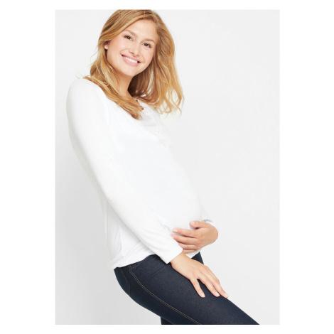 Tričko na kojenie/Tehotenské tričko s čipkovanou vsadkou