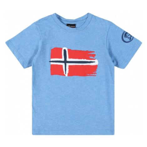 TROLLKIDS Funkčné tričko 'Oslo'  kráľovská modrá / červená / tmavomodrá / biela