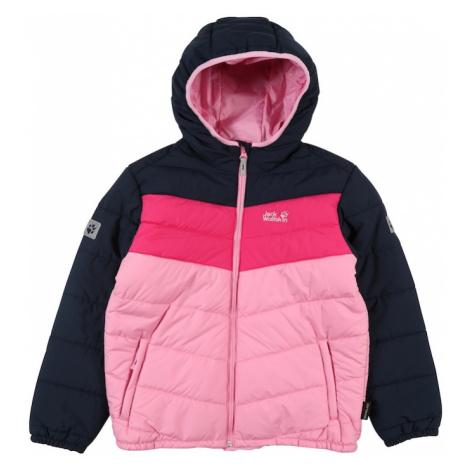 JACK WOLFSKIN Outdoorová bunda 'Three Hills'  tmavomodrá / svetloružová / ružová