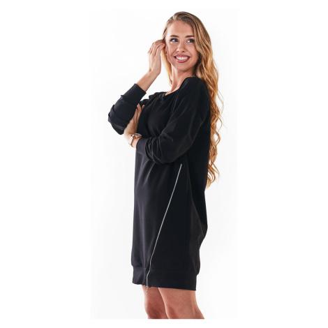 Čierne mikinové šaty M242 Infinite You