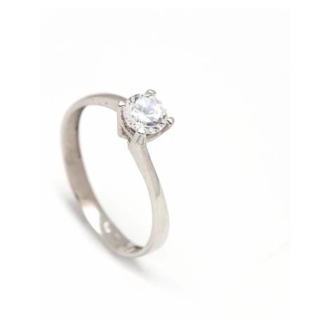 Zlatý zásnubný prsteň CLOVER white
