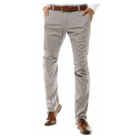 Elegantné svetlošedé nohavice DStreet