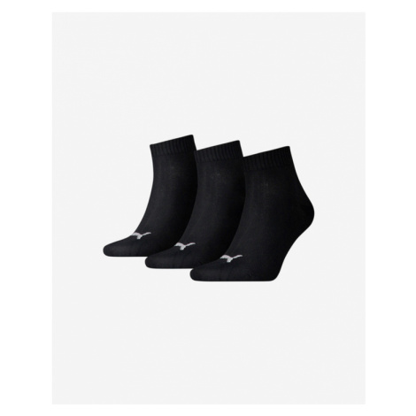 Puma Ponožky 3 páry Čierna