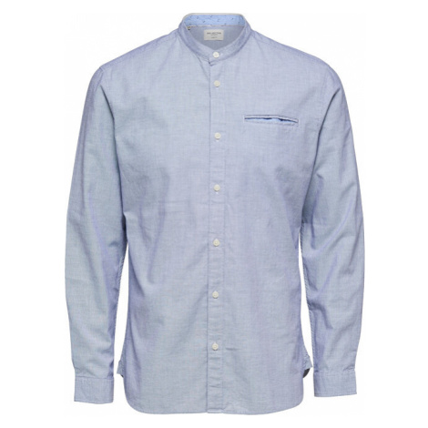 SELECTED HOMME Pánska košeľa SLHSLIMLAKE SHIRT LS MIX W Bright White Structure
