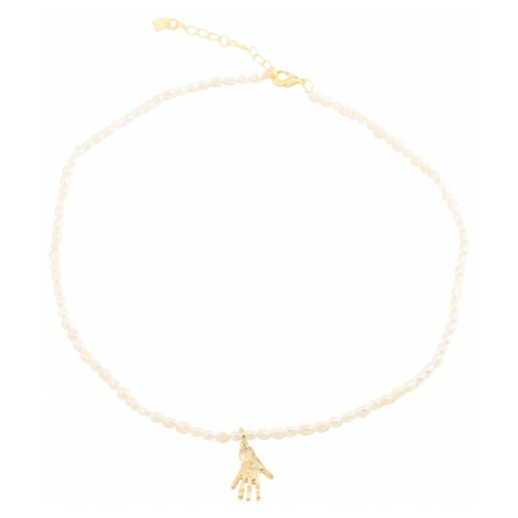 Fräulein Wunder Retiazka 'Perlen Hand'  zlatá / perlovo biela
