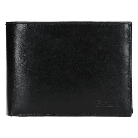 Pánska kožená peňaženka Diviley Ross - čierna