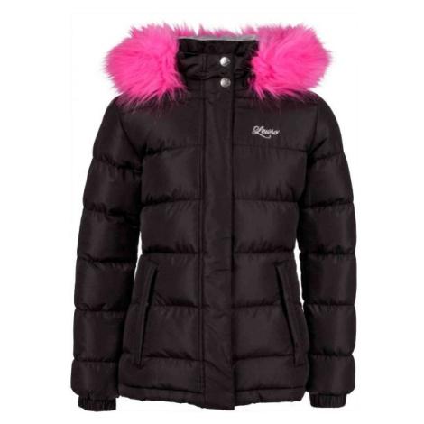 Lewro NAILA čierna - Dievčenská prešívaná bunda