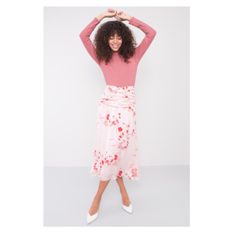 BSL Light pink patterned skirt
