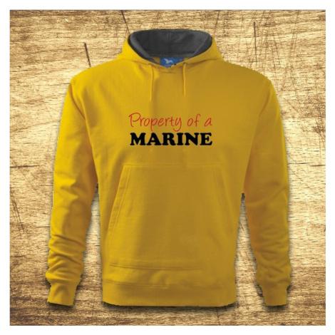 Mikina s kapucňou s motívom Property of a marine