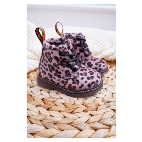 Children's Boots With Zipper Pink Leopard Lilo