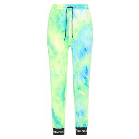 myMo ATHLSR Športové nohavice  neónovo zelená / neónovo modrá
