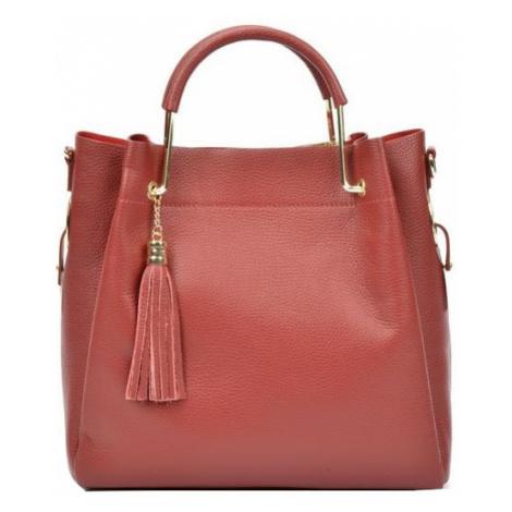 Carla Ferreri Dámska kožená kabelka AW20CF1277 Rosso