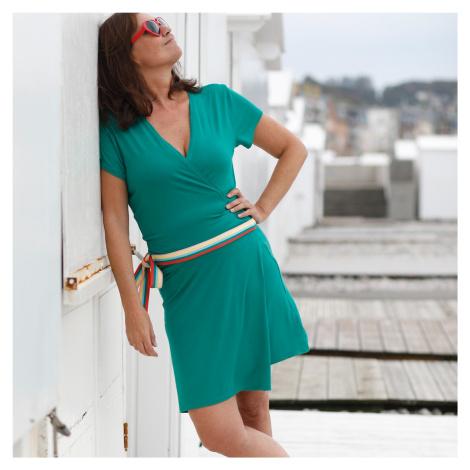Blancheporte Šaty s prekrížením zelená