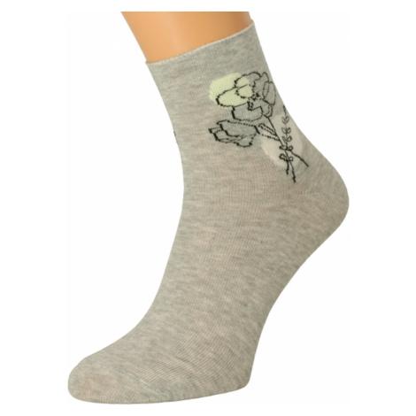 Bratex Woman's Socks DD-012 Light Melange
