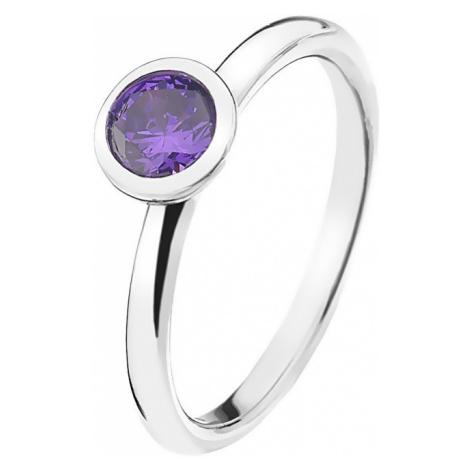 Hot Diamonds Strieborný prsteň Emozioni scintilla Violet Spirituality ER021 mm