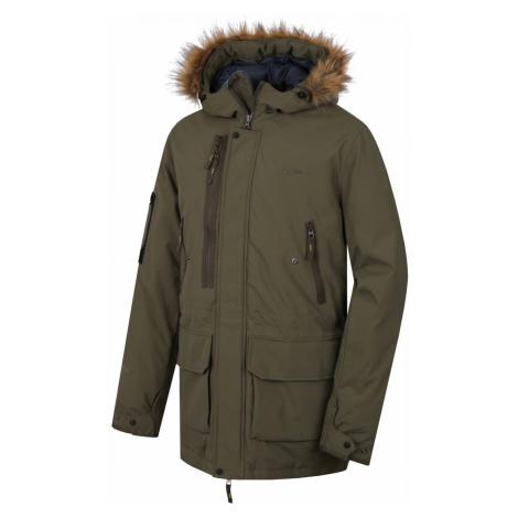 Husky Nelidas tm. khaki, Pánsky plnený zimný kabát