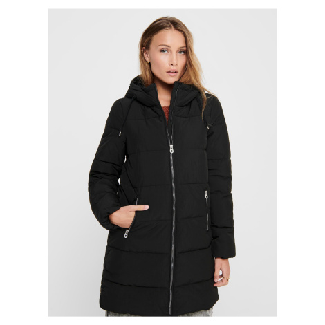 Čierny zimný prešívaný kabát ONLY Dolly