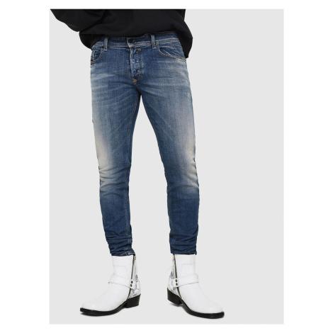 Modré pánske skinny fit džínsy Diesel