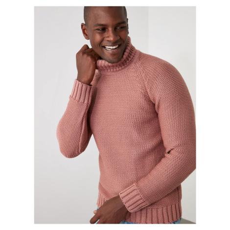Trendyol ružové pánsky sveter