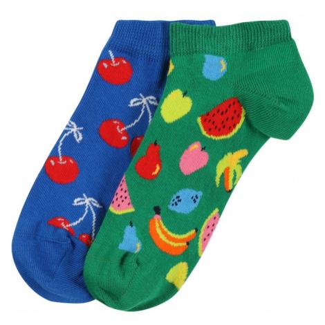 Happy Socks Ponožky 'Fruit'  modrá / trávovo zelená / zmiešané farby