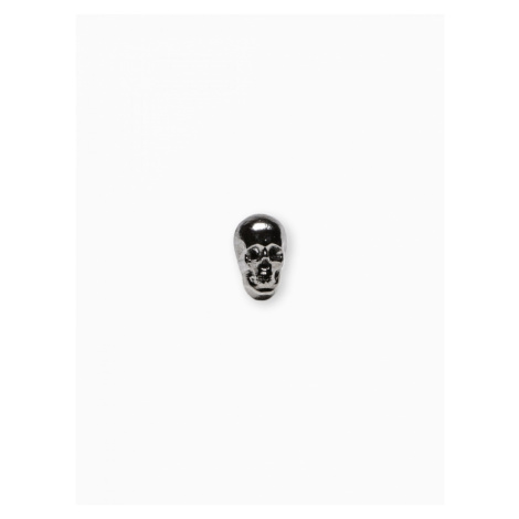 Ombre Clothing Men's lapel pin skull A232 Silver