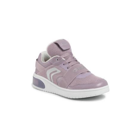 Geox Sneakersy J Xled G.A J928DA 06KNF C8003 S Fialová