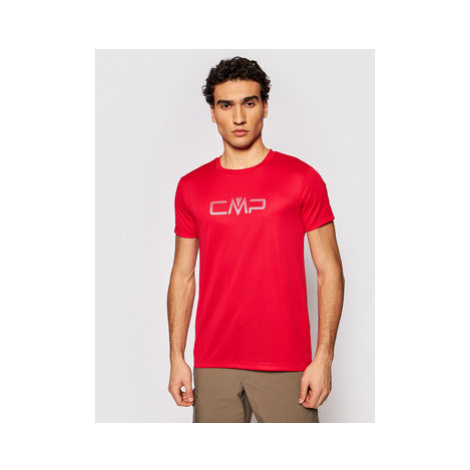 CMP Funkčné tričko 39T7117P Červená Regular Fit