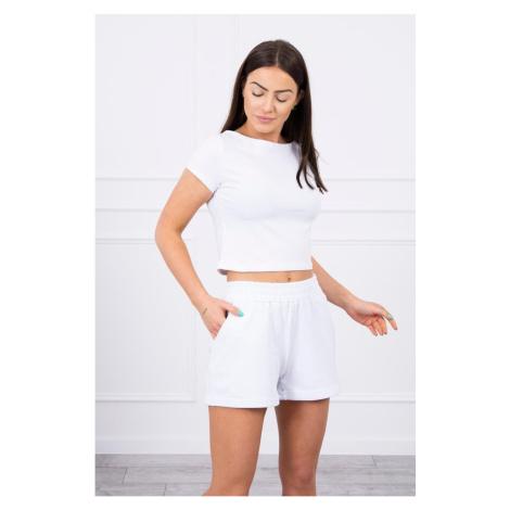 Cotton set with shorts white