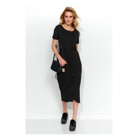 Čierne šaty M544 Makadamia