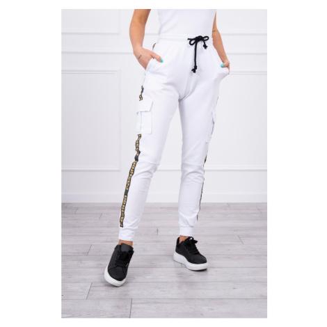 Pants cargo white