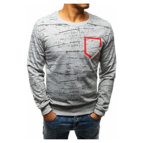 Gray men's sweatshirt with print BX3550 DStreet