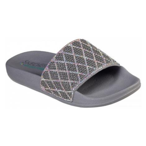 Skechers POP UPS šedá - Dámske papuče