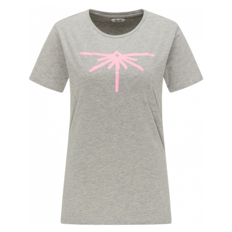 Petrol Industries Tričko  sivá melírovaná / ružová