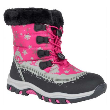 ALPINE PRO TREJO ružová - Detská zimná obuv