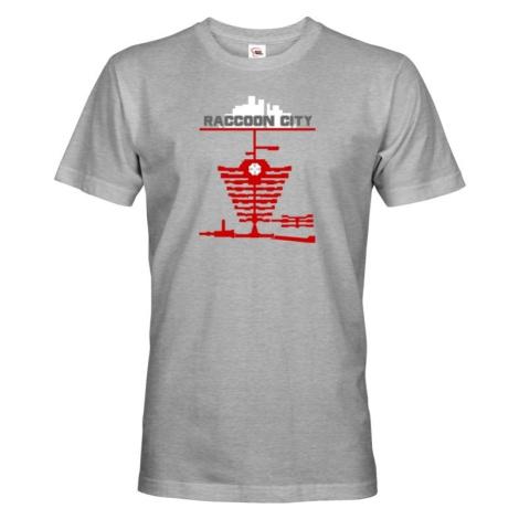 Pánske tričko Racoon city - tričko zo série Resident Evil