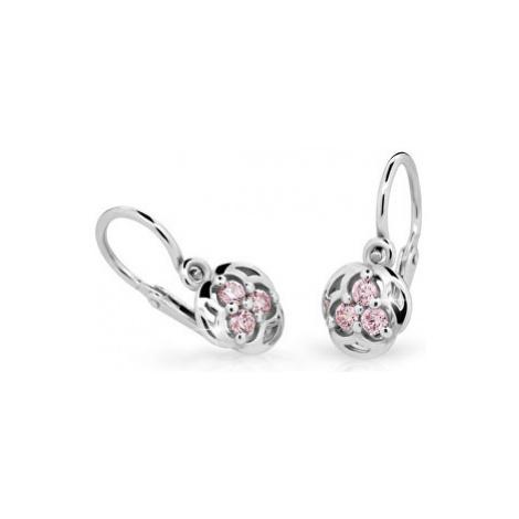 Cutie Jewellery Detské náušnice C2252-10-X-2 fuchsiová