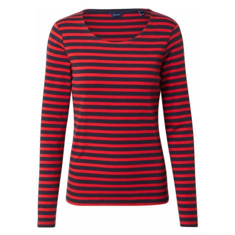 GANT Tričko  červená / tmavomodrá