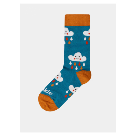 Modré detské vzorované ponožky Fusakle Mraky