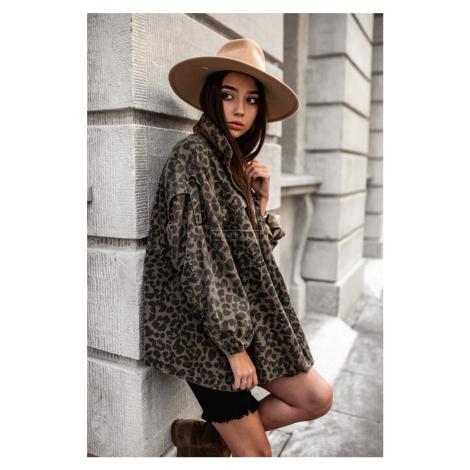 Leopardia rifľová bunda Wild girl