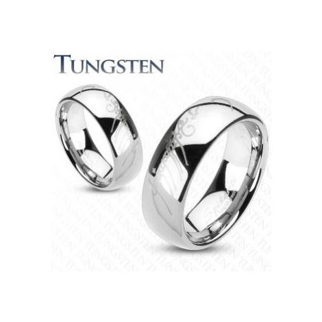 Tungstenová obrúčka striebornej farby, motív Pána prsteňov, 6 mm - Veľkosť: 68 mm
