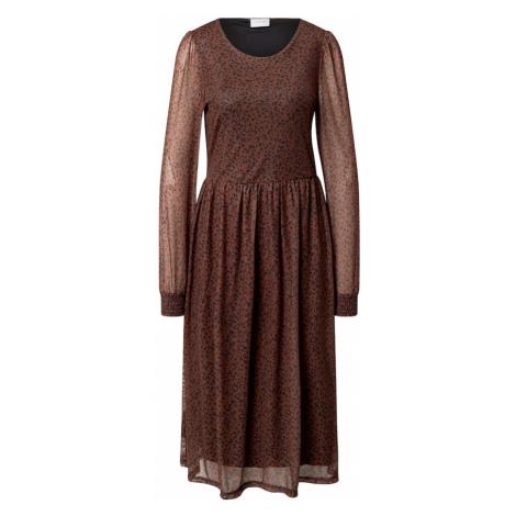 VILA Šaty 'Violette Taia'  hnedá / čierna