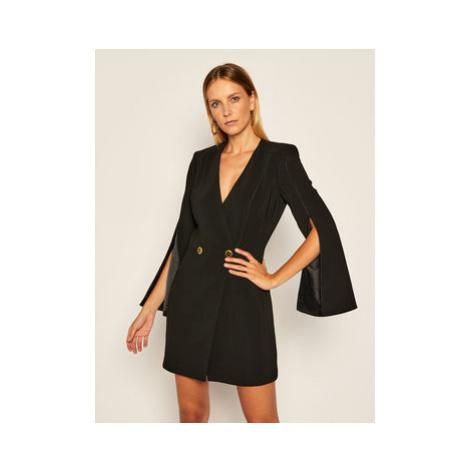 Elisabetta Franchi Koktejlové šaty AB-056-06E2-V469 Čierna Regular Fit
