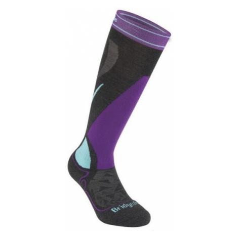 Ponožky Bridgedale Ski Midweight Women's graphite/purple/134