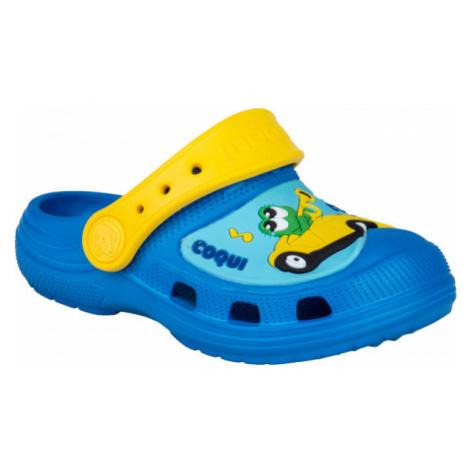 Coqui CROAKY žltá - Detské sandále