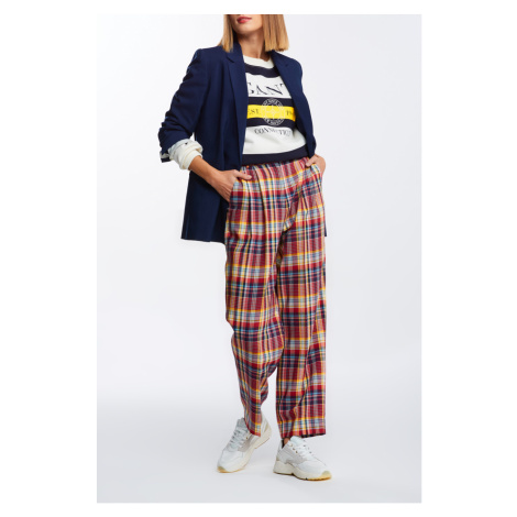NOHAVICE GANT D1. HW PLEATED CHECKED PANTS